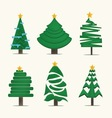 Christmas treesicon set vector image