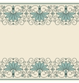 Floral ornament greek style vector image