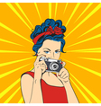pop art beautiful young woman Retro Style vector image