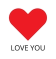 Red Heart Shape and inspiration Love You vector image