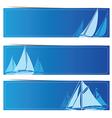 Sailboat banners2 vector image