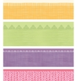 Set of four horizontal textile fabric textures vector image