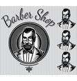 set of templates for hairdresser gentlemen vector image