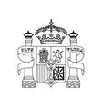 shield classic icon of Spanish culture vector image