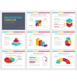 template for presentation with 3d graphs vector image