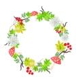 Spring floral bouquet wreath vector image