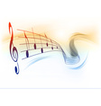 music note background white vector image vector image