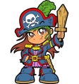Cute Girl Pirate vector image