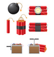 Dynamite icons vector image vector image