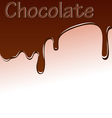 background with chocolate streaks vector image