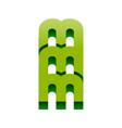 3d mmm initials lettermark symbol design vector image