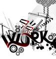 work logo vector image vector image