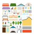 House elements Windows and doors benches street vector image