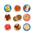 Nut Icon Set vector image