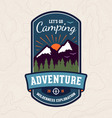 Camping emblem vector image vector image