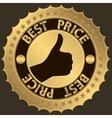 Best price golden label vector image
