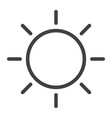 brightness line icon web and mobile sun sign vector image