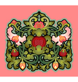 Cartouche with floral decoration vector image