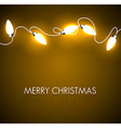 Christmas background with golden lights vector image