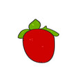 isolated pixelated strawberry vector image
