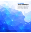 Polygonal abstract blue back for presentation vector image