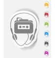 realistic design element music player vector image