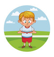 schoolboy cute cartoon vector image
