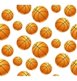 Seamless pattern with basketball vector image