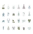 Sketch Christmas icon set handmade for your vector image