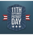 September 11th Patriot Day paper Emblem vector image