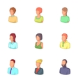 Account of men and women icons set cartoon style vector image