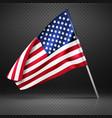 american banner wavy flying flag usa flag vector image vector image