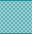 cyan seamless abstract mechanic cell vintage vector image