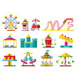 colorful attractions collection vector image