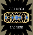 expensive art deco filigree brooch in rectangle vector image vector image