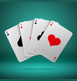 casino gambling poker blackjack concept vector image