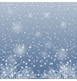 Snow falling on the branches of trees vector image
