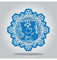Snowflake of the Tiger on the Chinese zodiac vector image