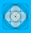 Abstract flower on blue background vector image