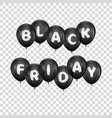 black friday letters on balloons vector image