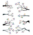 Branches with colorful leaves vector image