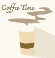 coffee timeflat icon vector image