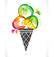 colorful background with ice cream vector image