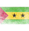 Flag of Sao Tome and Principe with old texture vector image