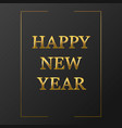 letters happy new year vector image