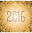 New Year 2016 lettering of Christmas tinsel font vector image