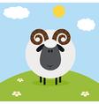 Ram on a Farm Backdrop vector image