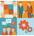 teamwork and cooperation concepts in flat style vector image