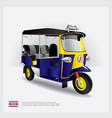 thailand tuk tuk car vector image