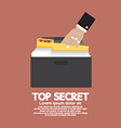 Top Secret Folder In Hand vector image